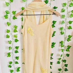Boho Floral Sun Cami V-Neck Dress
